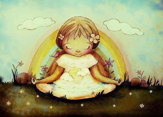 kid meditating
