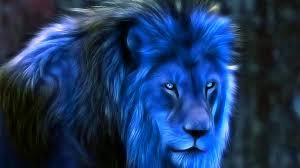 leao azul